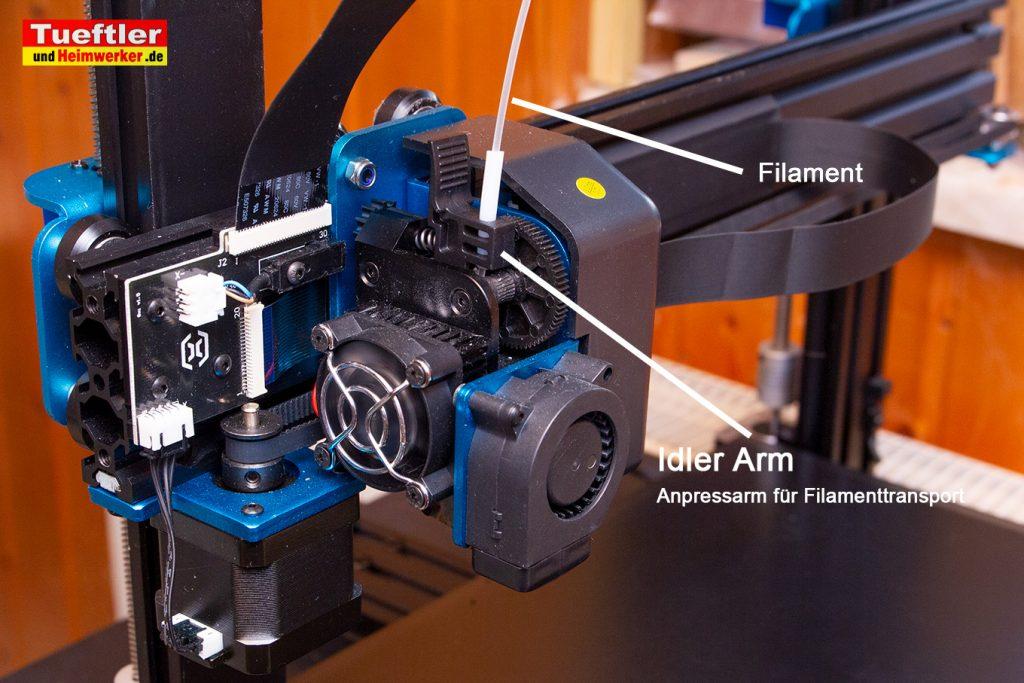 Artillery-Sidewinder-X1-Idler-arm-Filamenttransport