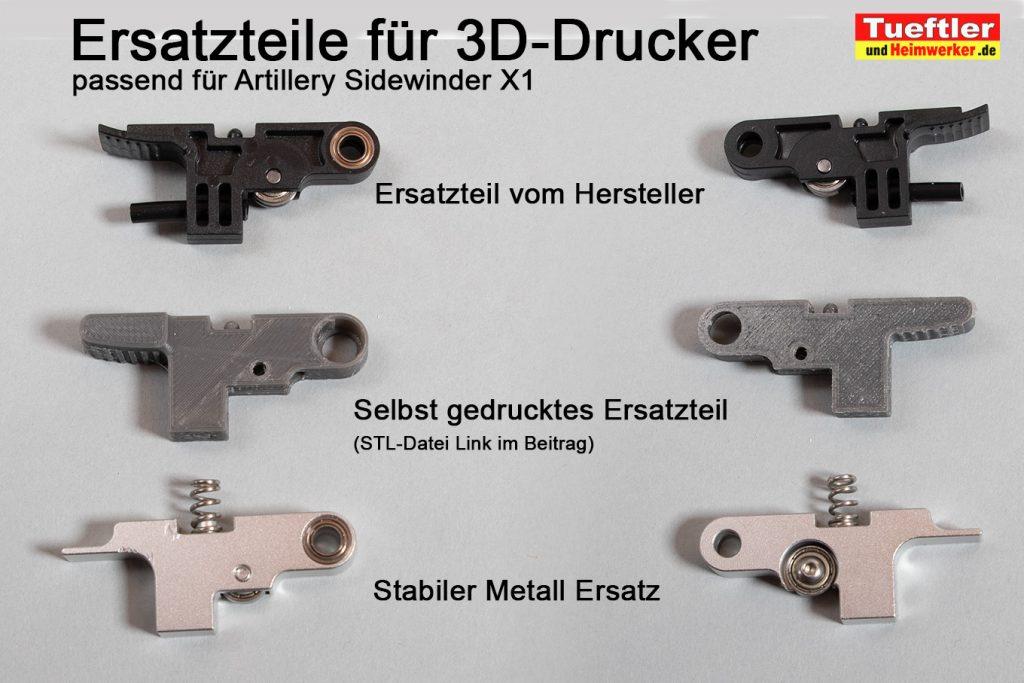 Artillery-Sidewinder-X1-Idler-arm-gebrochen-Ersatzteile