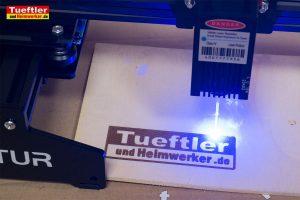 Ortur-Laser-Master-Test-Lasergravur-Erster-Sperrholz-Test
