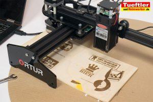 Ortur-Laser-Master-Test-Lasergravur-Erster-Sperrholz-Tests-2