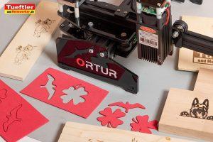 Ortur-Laser-Master-Test-Lasergravur-Moosgummi-schneiden