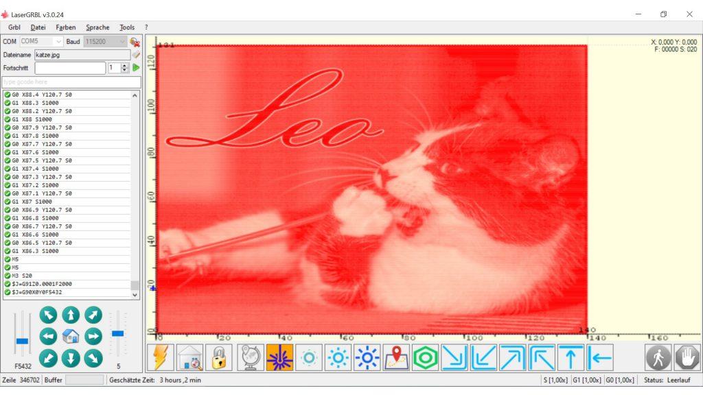Ortur-Laser-Master-Test-Lasergravur-Rasterbild-Katze-Benutzeroberflaeche