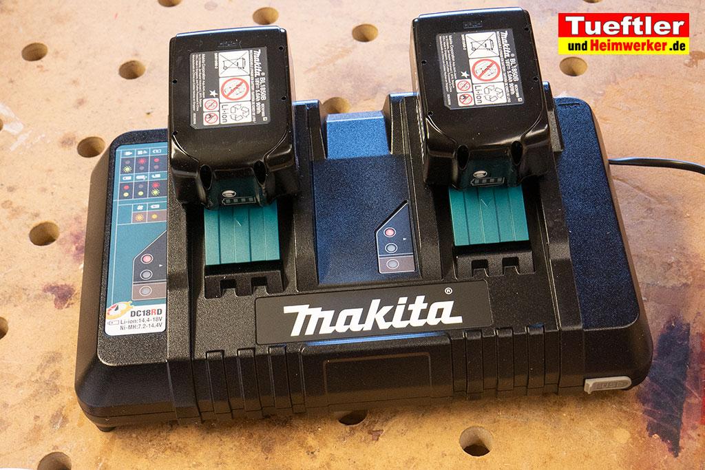 Makita-DUC353PT2-Test-DUC353Z-Schnellladegeraet