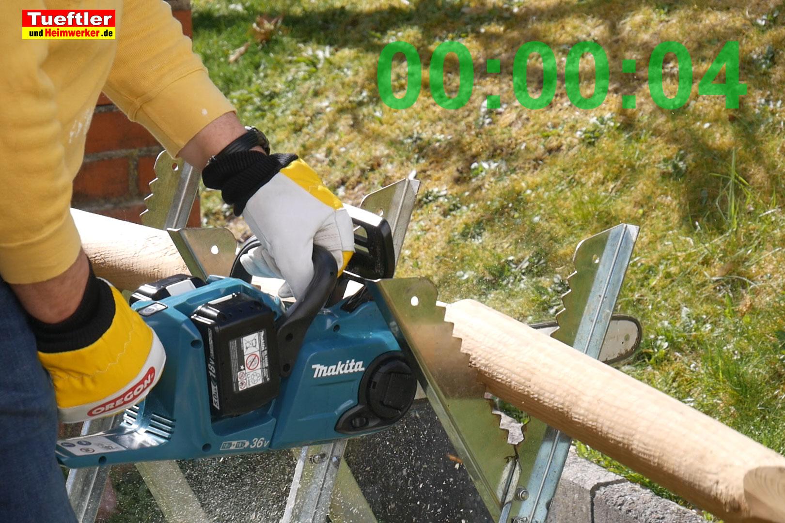 Makita-DUC353PT2-Test-DUC353Z-Schnittzeit-80mm