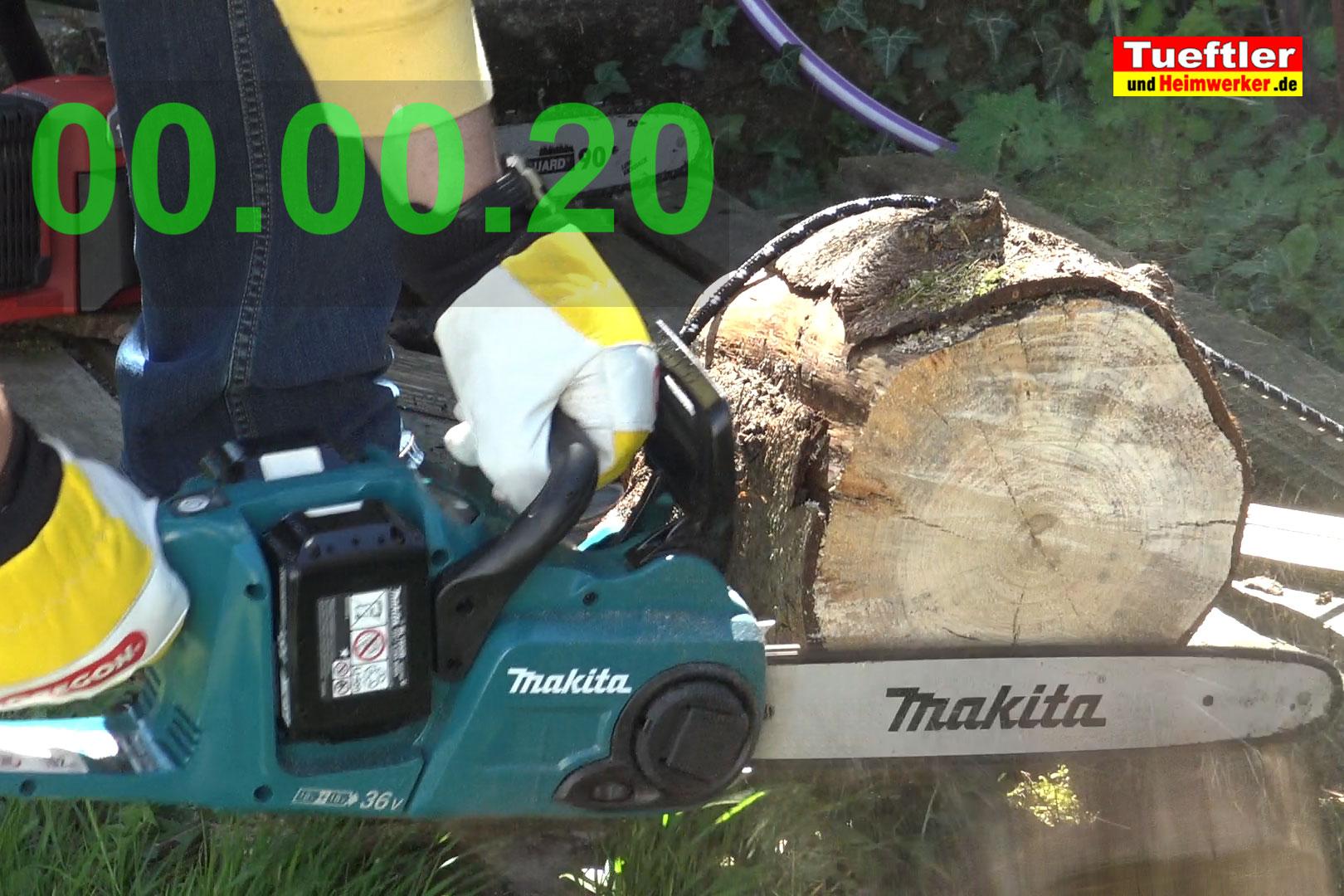 Makita-DUC353PT2-Test-DUC353Z-Schnittzeit