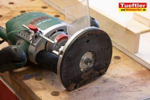 Baumscheiben-Uhr-Oberfraese-Kopierring
