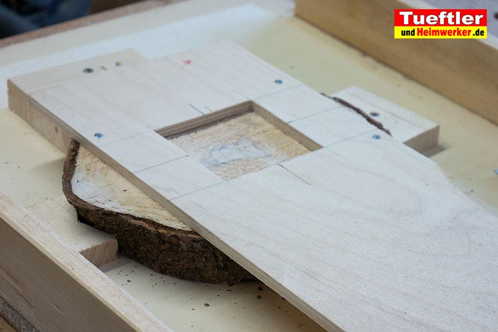 Baumscheiben-Uhr-Schablone-Uhrwerk