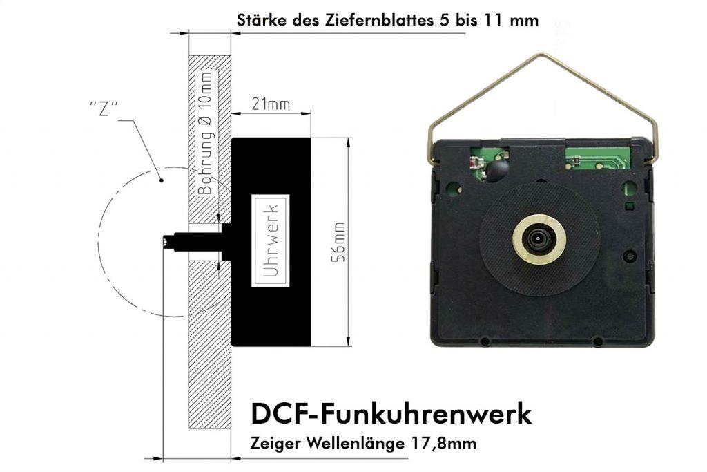 DCF-Funkuhrenwerk-Skizze