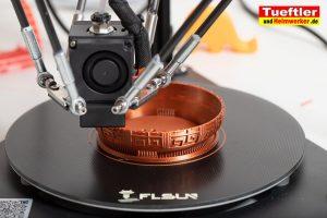 Flsun-Q5-Delta-3D-Drucker-Test-Schale-drucken