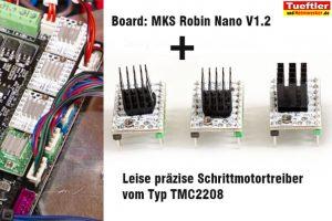 Flsun-Q5-Delta-3D-Drucker-Test-Schrittmotortreiber-TMC2208