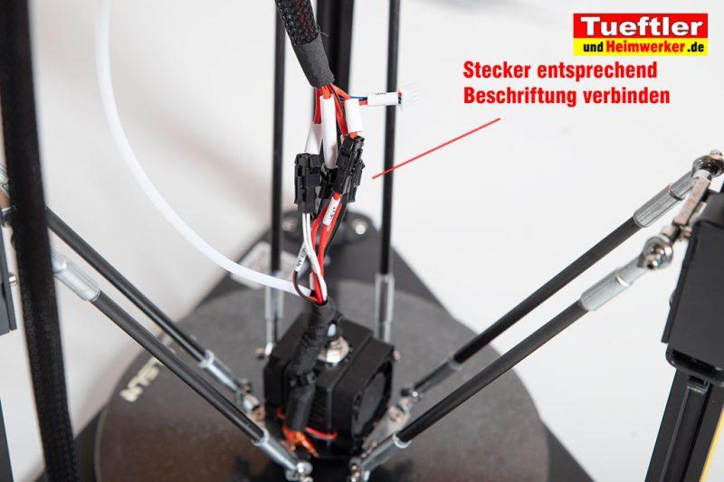 Flsun-Q5-Delta-3D-Drucker-Tutorial-Aufbau-Druckkopf-Kabel-verbinden