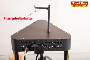 Flsun-Q5-Delta-3D-Drucker-Tutorial-Aufbau-Filamentrollenhalter-montieren