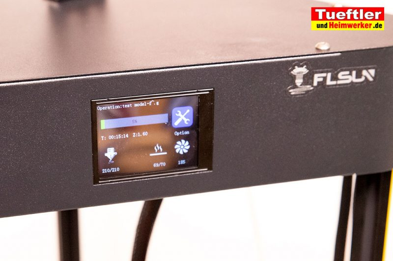 Flsun-Q5-Delta-3D-Drucker-Tutorial-Erste-Druck-Display