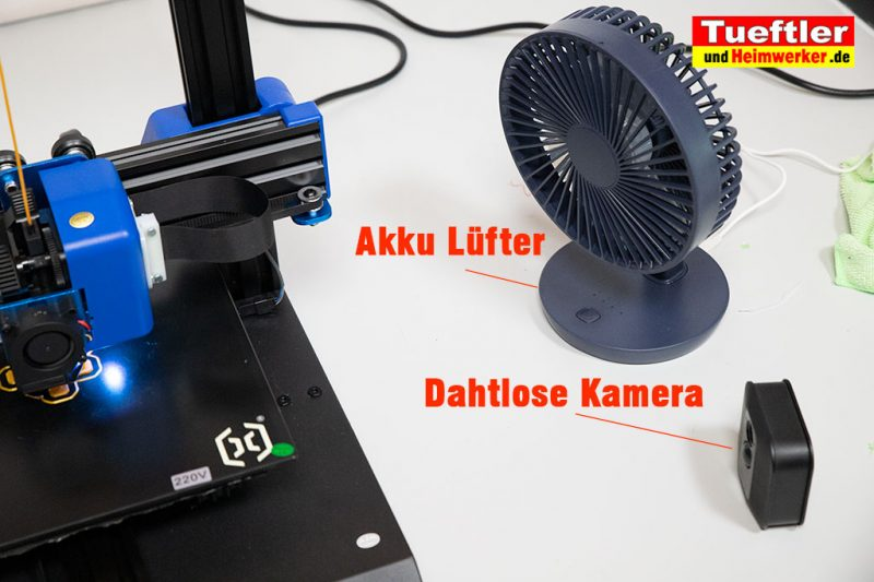 Akku-Luefter-drahtlose-Kamera-3DDrucker-Ueberwachung