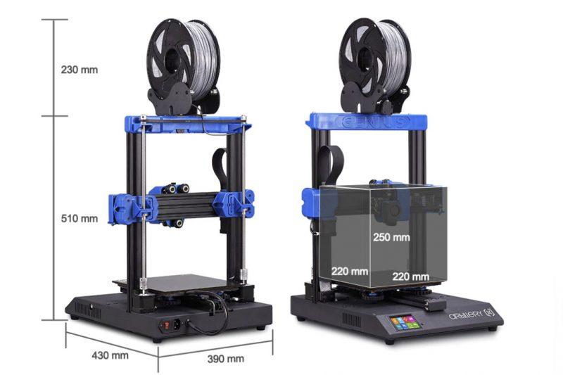 Artillery-Genius-Test-3D-Drucker-Groesse
