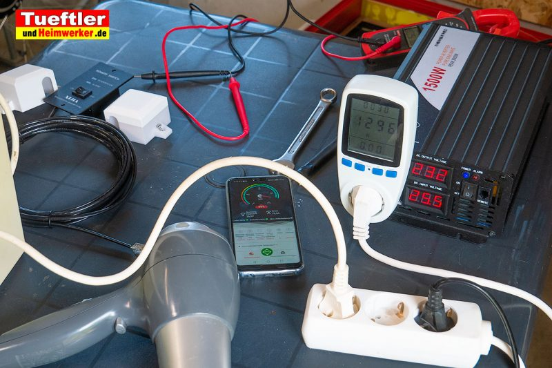 Reiner-Sinus-Wechselrichter-24V-nach-230V-1500W-Belastungstest