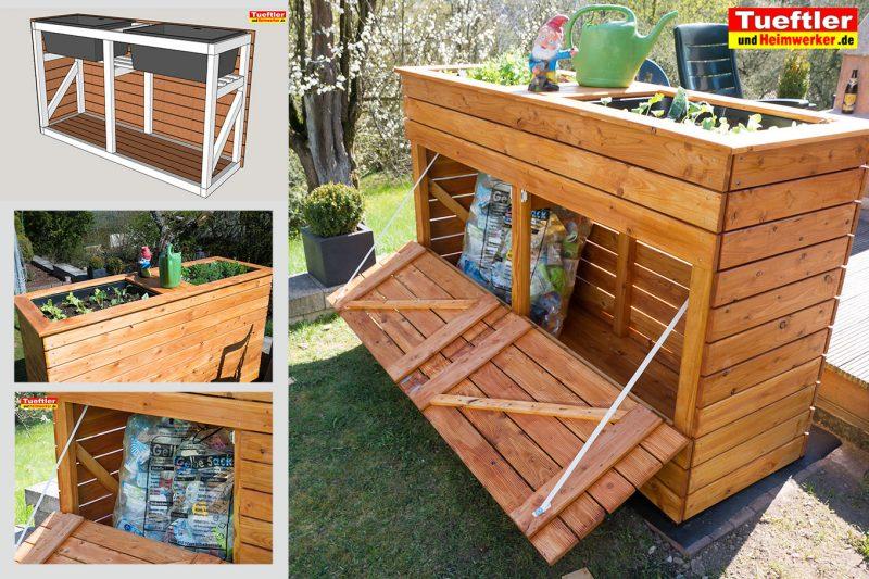 hochbeet mit kombinierter m llbox selber bauen diy. Black Bedroom Furniture Sets. Home Design Ideas
